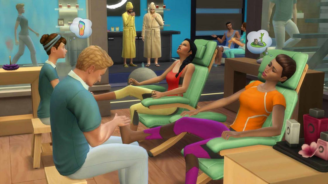 De Sims 4 Spa dag gameplay screenshot 1