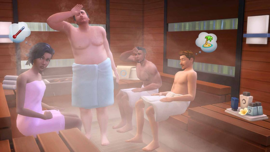 De Sims 4 Spa dag gameplay screenshot 3