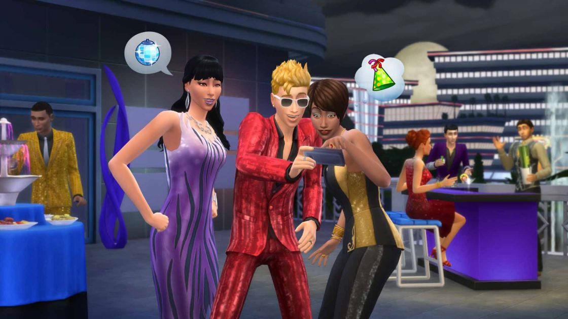 De Sims 4 luxury party accessoires gameplay screenshot 2