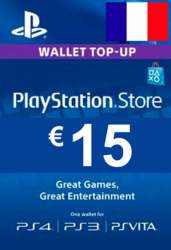 PlayStation Network Card (PSN) €15 (France)