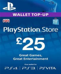 PlayStation Network Card (PSN) 25£ (UK)